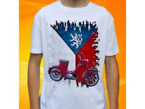 Dětské a pánské tričko s motorkou Jawa 550 Pařez