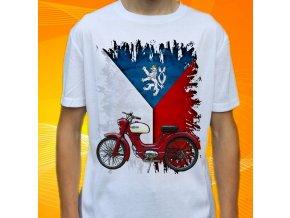 Dětské a pánské tričko s motorkou Jawa Moped