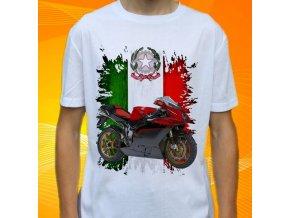 Dětské a pánské tričko s motorkou MV Augusta