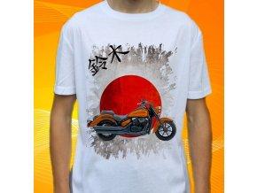 Dětské a pánské tričko s motorkou Suzuki Boulevard C90