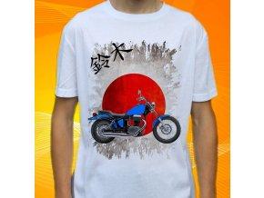 Dětské a pánské tričko s motorkou Suzuki Boulevard S40