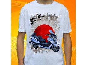 Dětské a pánské tričko s motorkou Suzuki Burgman 650