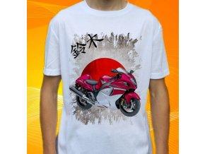 Dětské a pánské tričko s motorkou Suzuki GSX1300R