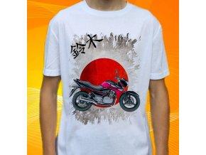 Dětské a pánské tričko s motorkou Suzuki GW250Z