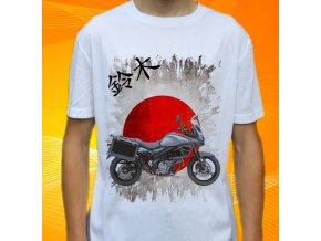 Dětské a pánské tričko s motorkou Suzuki V-strom 650 ABS Adventure