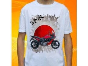 Dětské a pánské tričko s motorkou Suzuki V-strom 650 ABS