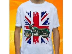 Dětské a pánské tričko s motorkou Triumph Bonneville T100