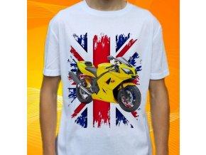 Dětské a pánské tričko s motorkou Triumph Daytona
