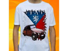 Dětské a pánské tričko s motorkou Velorex