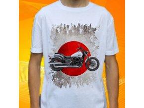 Dětské a pánské tričko s motorkou Yamaha V-star 650 Custom