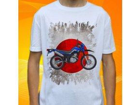 Dětské a pánské tričko s motorkou Yamaha XT250