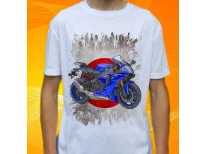 Dětské a pánské tričko s motorkou Yamaha YZFR1ABS