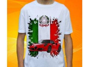 Dětské a pánské tričko s autem Alfa Romeo 4C