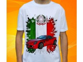 Dětské a pánské tričko s autem Alfa Romeo 8C