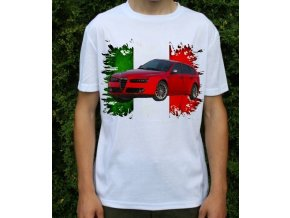 Dětské a pánské tričko s autem Alfa Romeo 159 Sportwagon