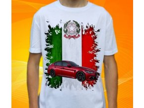 Dětské a pánské tričko s autem Alfa Romeo Giulia