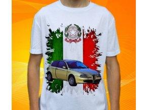 Dětské a pánské tričko s autem Alfa Romeo 147