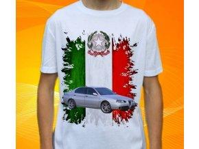 Dětské a pánské tričko s autem Alfa Romeo 166
