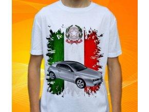 Dětské a pánské tričko s autem Alfa Romeo Brera