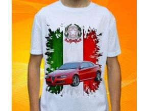 Dětské a pánské tričko s autem Alfa Romeo GT