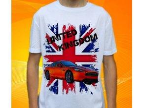 Dětské a pánské tričko s autem Aston Martin Virage