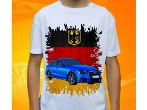 Dětské a pánské tričko s autem Audi S3 Sedan