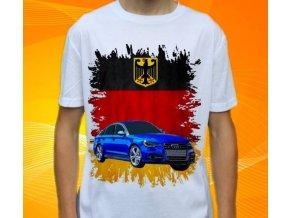 Dětské a pánské tričko s autem Audi S6