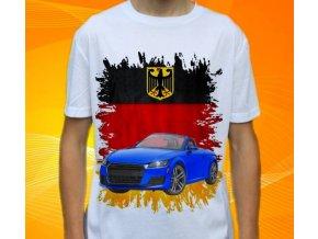 Dětské a pánské tričko s autem Audi TT Cabrio
