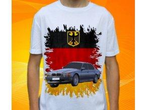 Dětské a pánské tričko s autem BMW E38