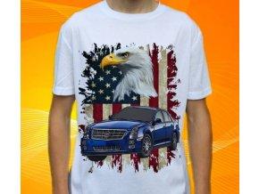 Dětské a pánské tričko s autem Cadillac STS