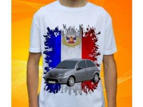 Dětské a pánské tričko s autem Citroen C3 2006