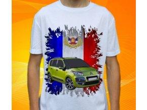 Dětské a pánské tričko s autem Citroen C3 Picasso
