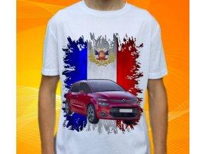 Dětské a pánské tričko s autem Citroen C4 Picasso