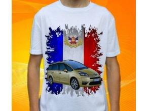 Dětské a pánské tričko s autem Citroen Grand C4 Picasso