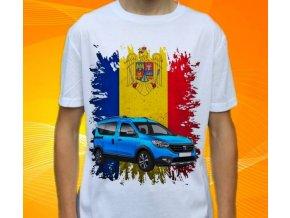 Dětské a pánské tričko s autem Dacia Dokker 2015