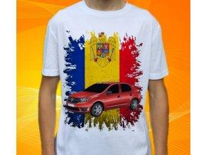 Dětské a pánské tričko s autem Dacia Logan