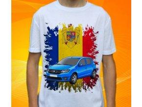 Dětské a pánské tričko s autem Dacia Sandero