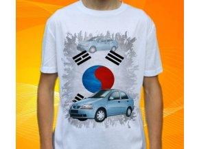 Dětské a pánské tričko s autem Daewoo Kalos