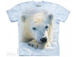 dětské tričko-lední medvídek-batikované-potisk-mountain