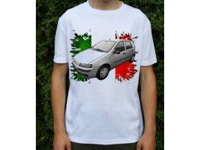 Dětské a pánské tričko s autem Fiat Punto
