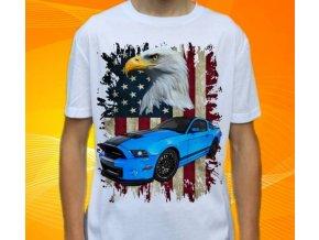 Dětské a pánské tričko s autem Ford Mustang Shelby GT500