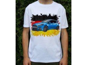 Dětské a pánské tričko s autem Ford Focus RS 2016