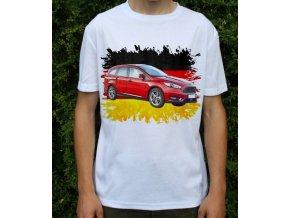 Dětské a pánské tričko s autem Ford Focus Wagon 2015