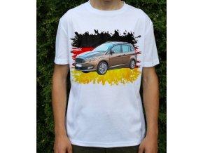 Dětské a pánské tričko s autem Ford Grand Cmax 2015