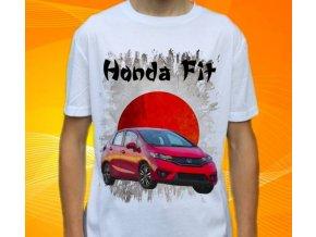 Dětské a pánské tričko s autem Honda Fit