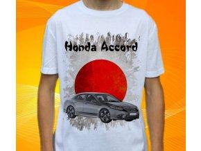 Dětské a pánské tričko s autem Honda Accord