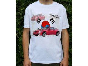 Dětské a pánské tričko s autem Hyundai Genesis Coupe