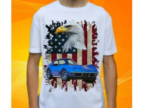 tričko s autem Chevrolet Corvette Stingray