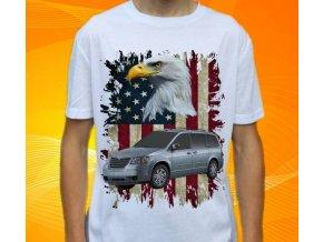 Dětské a pánské tričko s autem Chrysler Grand Voyager