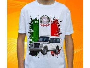 Dětské a pánské tričko s autem Iveco Massif
